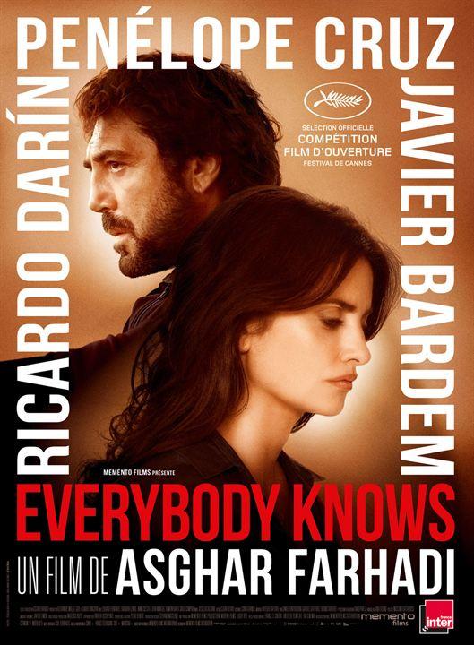 """Résultat de recherche d'images pour """"affiche du film EVERYBODY KNOWS"""""""