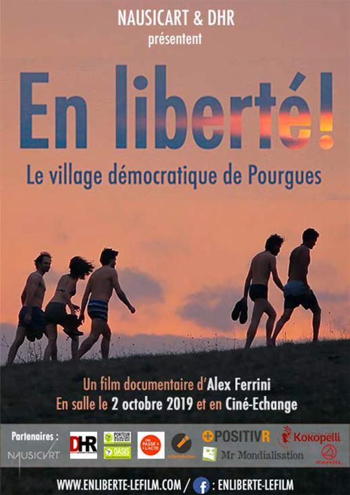 En liberté ! le village démocratique de Pourgues : Affiche