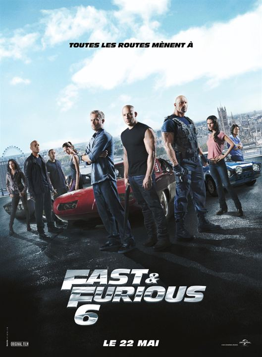 affiche du film fast furious 6 affiche 1 sur 7 allocin. Black Bedroom Furniture Sets. Home Design Ideas