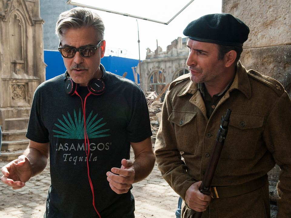 Monuments Men : Photo George Clooney, Jean Dujardin