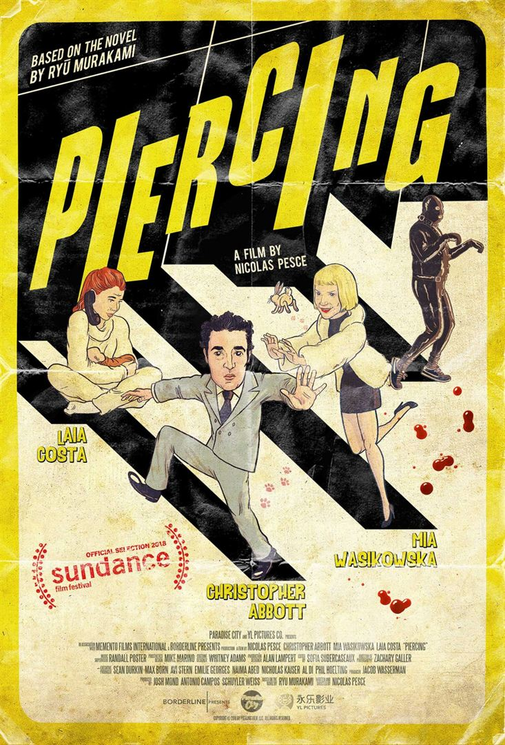 US Poster for Piercing with Mia Wasikowska