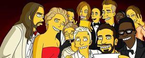 """""""Les Simpson"""" revisitent le selfie des Oscars"""