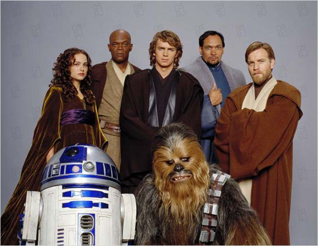 Star Wars : Episode III - La Revanche des Sith : Photo Ewan McGregor, Hayden Christensen, Jimmy Smits, Kenny Baker, Natalie Portman