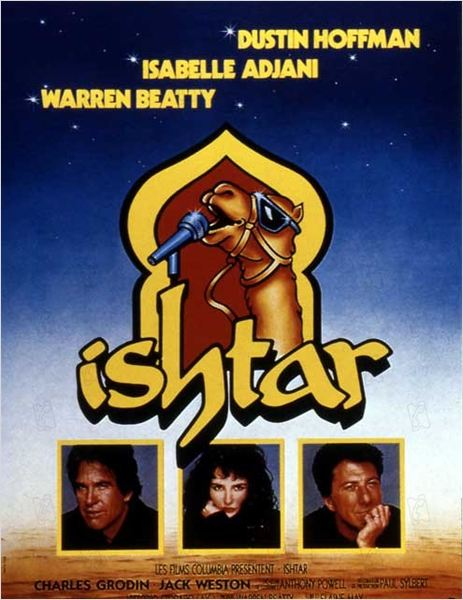 Ishtar : Affiche Dustin Hoffman, Elaine May, Isabelle Adjani, Warren Beatty