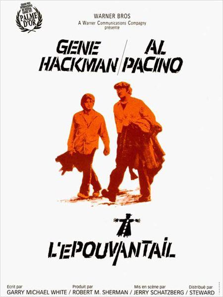 L&#39;Epouvantail : affiche Al Pacino, Gene Hackman, Jerry Schatzberg