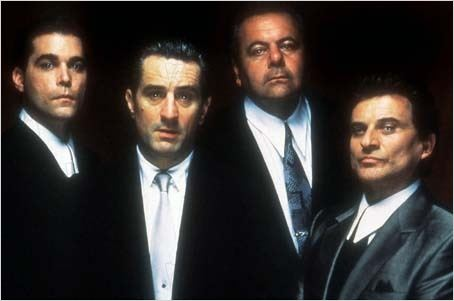 Les Affranchis : Photo Joe Pesci, Martin Scorsese, Paul Sorvino, Ray Liotta, Robert De Niro