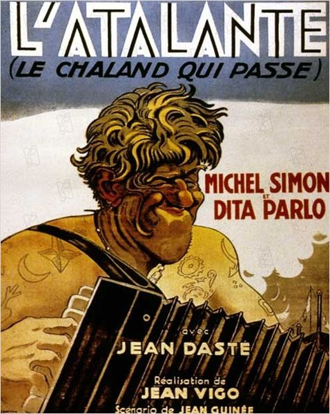 L'Atalante : Affiche Dita Parlo, Jean Dasté, Jean Vigo, Michel Simon