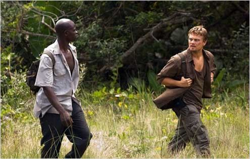 Blood Diamond : Photo Djimon Hounsou, Edward Zwick, Leonardo DiCaprio