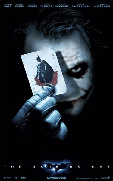 The Dark Knight, Le Chevalier Noir : Affiche Christopher Nolan, Heath Ledger