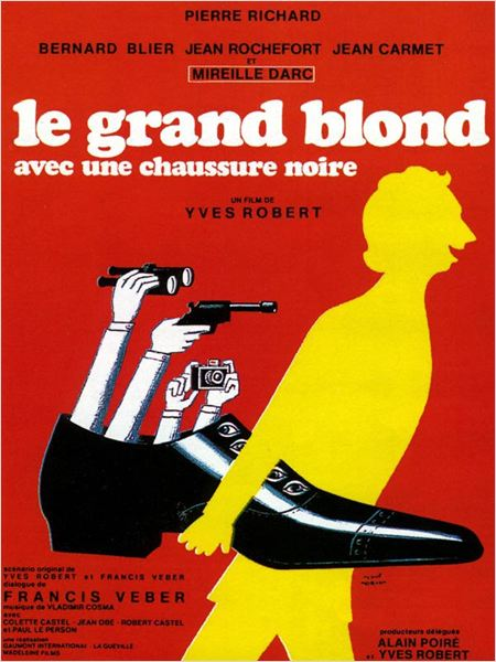 Le Grand Blond avec une chaussure noire : affiche