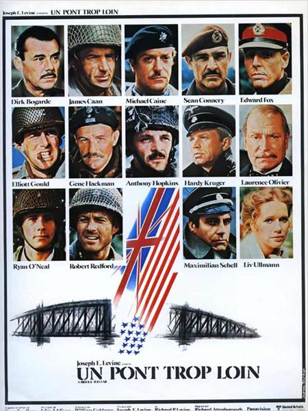 Un Pont trop loin : affiche Anthony Hopkins, Dirk Bogarde, Edward Fox, Elliott Gould, Gene Hackman