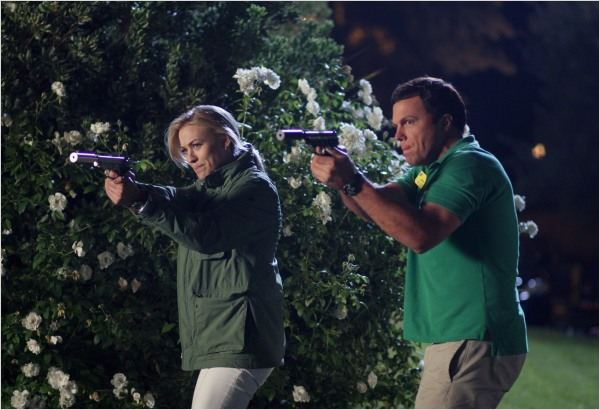 Chuck : photo Adam Baldwin, Yvonne Strahovski