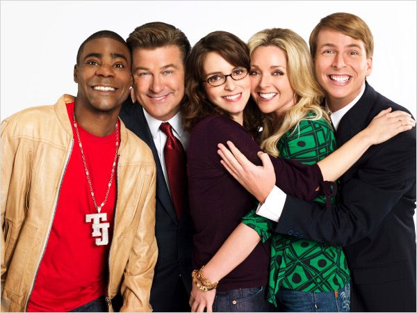 30 Rock : photo Alec Baldwin, Jack McBrayer, Jane Krakowski, Tina Fey, Tracy Morgan