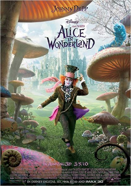 Alice au Pays des Merveilles : affiche Tim Burton