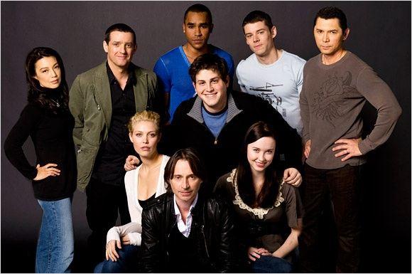 Stargate Universe : Photo Alaina Huffman, Brian J. Smith, David Blue, Elyse Levesque, Jamil Walker Smith