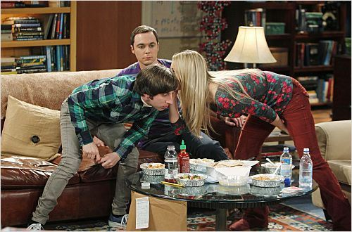 Photo Jim Parsons, Kaley Cuoco, Simon Helberg