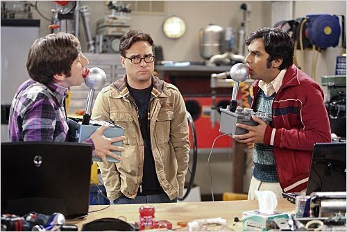 Photo Johnny Galecki, Kunal Nayyar, Simon Helberg