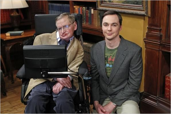 The Big Bang Theory : photo Jim Parsons, Stephen Hawking