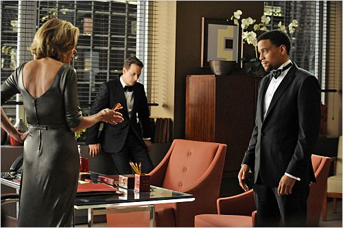 The Good Wife : photo Christine Baranski, Josh Charles, Michael Ealy