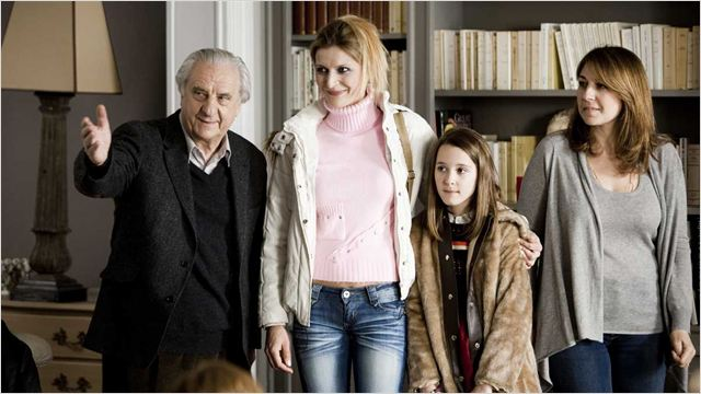 Les Invités de mon père : Photo Anne Le Ny, Emma Siniavski, Michel Aumont, Valérie Benguigui, Véronica Novak