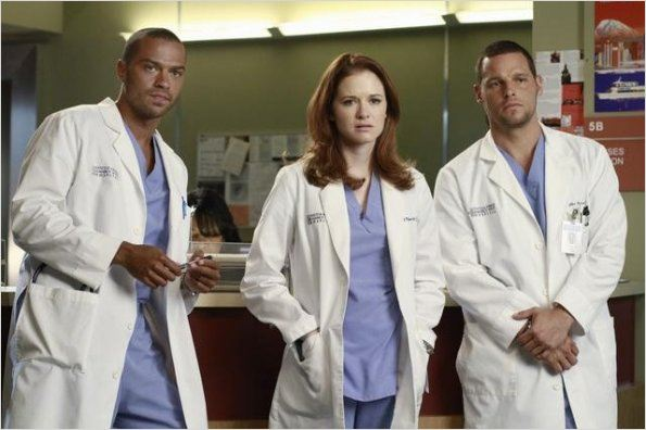 Photo Jesse Williams, Justin Chambers, Sarah Drew