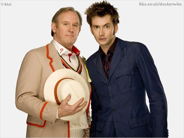 Doctor Who (2005) : photo David Tennant, Peter Davison