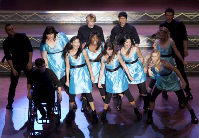Photo Amber Riley, Chord Overstreet, Cory Monteith, Dianna Agron, Heather Morris