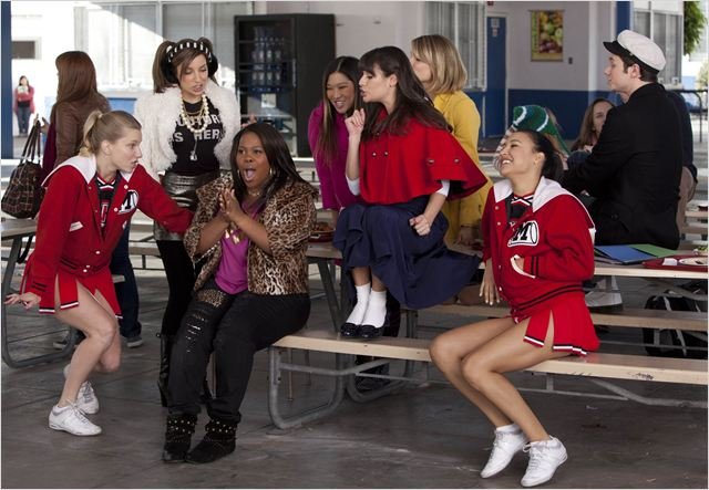 Photo Amber Riley, Chris Colfer, Dianna Agron, Heather Morris, Jenna Ushkowitz