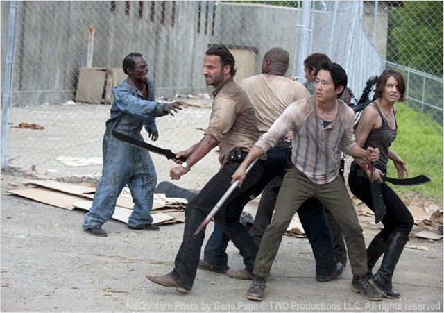Photo Andrew Lincoln, IronE Singleton, Lauren Cohan, Norman Reedus, Steven Yeun