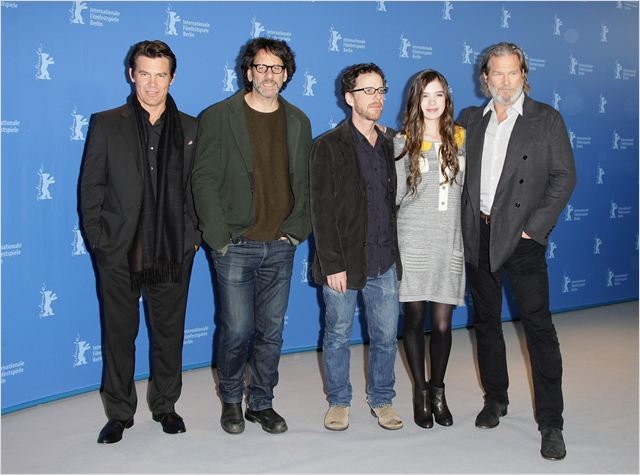 True Grit : photo Ethan Coen, Hailee Steinfeld, Jeff Bridges, Joel Coen, Josh Brolin