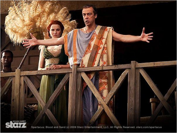 Spartacus : Le sang des gladiateurs : photo John Hannah, Lucy Lawless