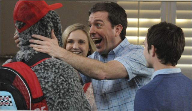 Photo Ed Helms, Elijah Wood, Fiona Gubelmann, Jason Gann