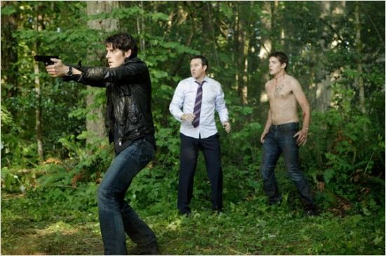 Grimm : photo Currie Graham, David Giuntoli, Parker Bagley