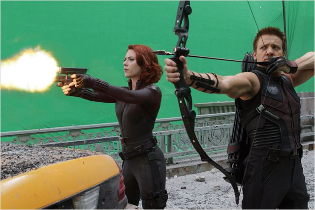 Avengers : photo Jeremy Renner, Scarlett Johansson