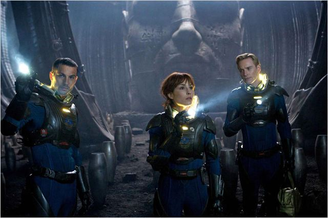 Prometheus : Photo Logan Marshall-Green, Michael Fassbender, Noomi Rapace, Ridley Scott