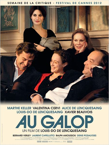 Au galop : affiche
