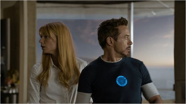 Iron Man 3 : Photo Gwyneth Paltrow, Robert Downey Jr.