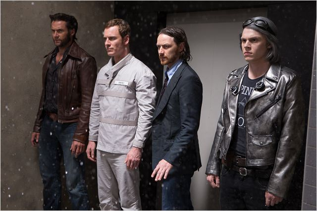 X-Men: Days of Future Past : Photo Evan Peters, Hugh Jackman, James McAvoy, Michael Fassbender