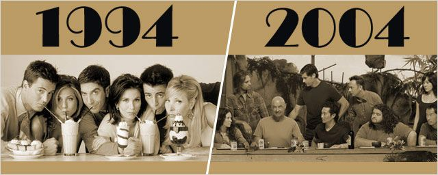 "1994 et 2004... de grands crus séries ! De ""Friends"" à ""Lost""..."