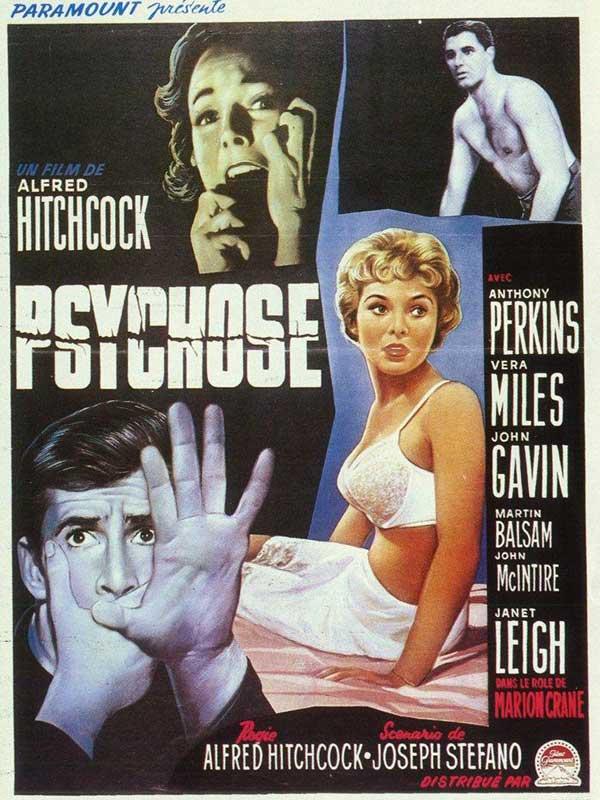 Psychose de Alfred Hitchcock réalisé en 1960