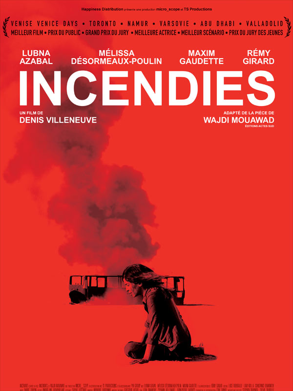 affiche film Incendies