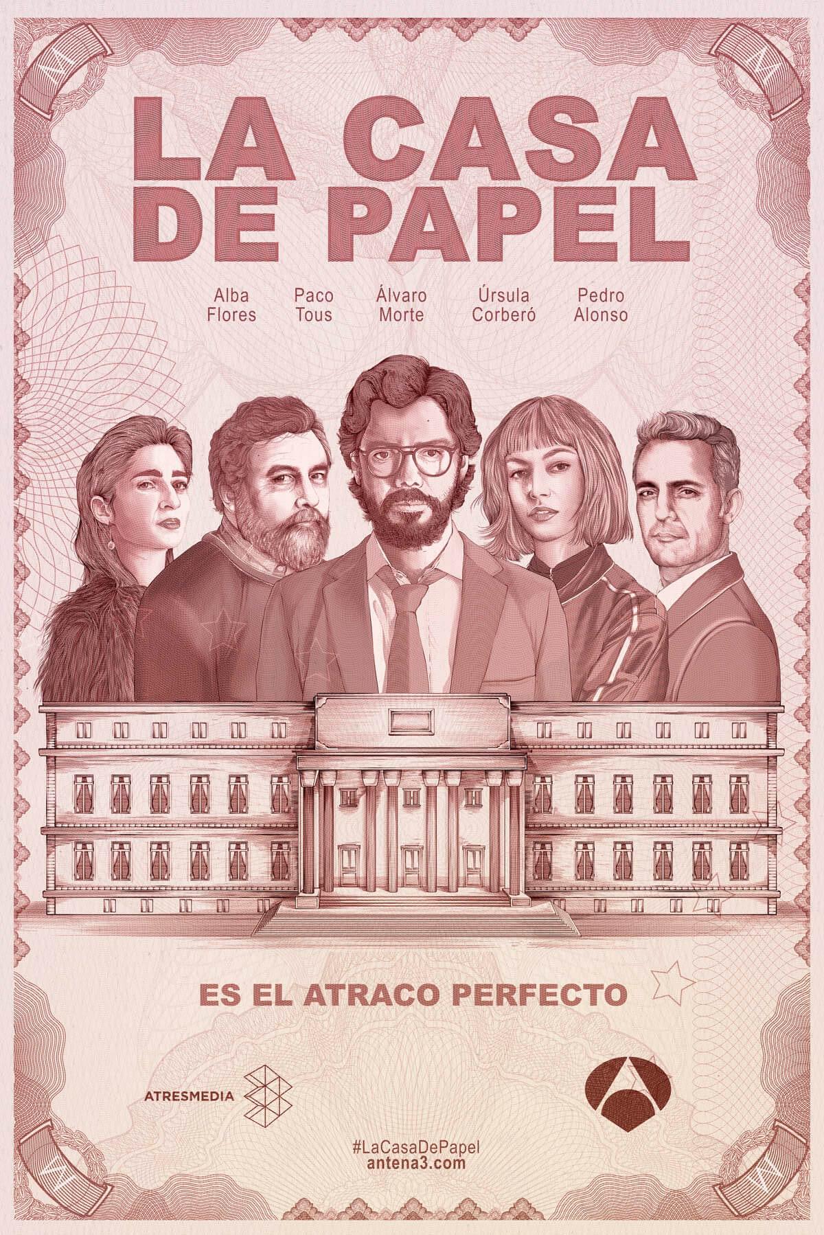 Affiche de la série La Casa de Papel