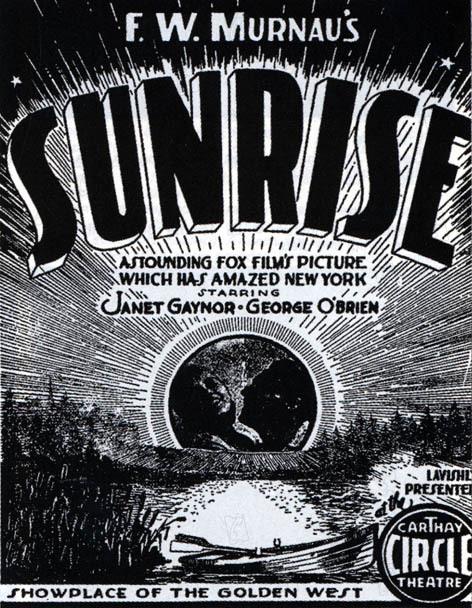 L'Aurore : Affiche F.W. Murnau, Janet Gaynor