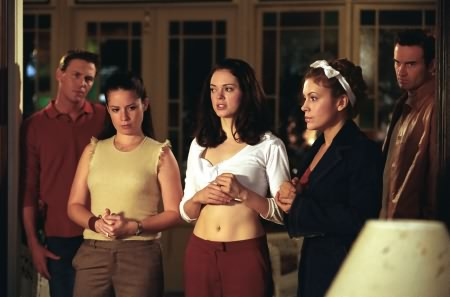 Charmed : Photo Alyssa Milano, Brian Krause, Holly Marie Combs, Julian McMahon, Rose McGowan