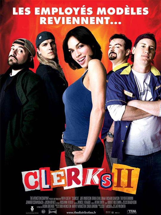 Clerks II : Affiche Brian O'Halloran, Jason Mewes, Jeff Anderson, Kevin Smith