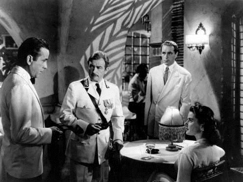 Casablanca : Photo Claude Rains, Humphrey Bogart, Michael Curtiz, Paul Henreid