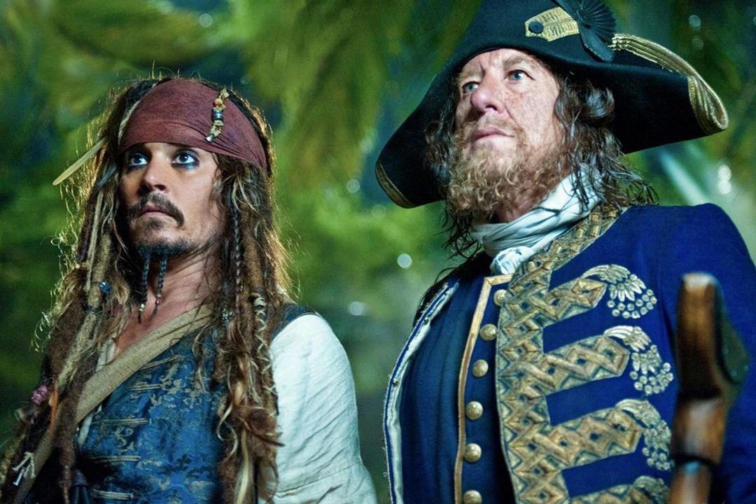 Pirates des Caraïbes : la Fontaine de Jouvence : Photo Geoffrey Rush, Johnny Depp