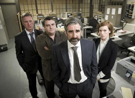 Photo John Lynch, Niamh McGrady, Simon Delaney, Stuart Graham
