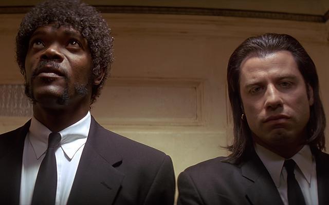 """Jules Winnfield et Vincent Vega dans """"Pulp Fiction"""""""