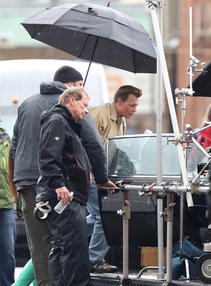Johnny Depp sur le tournage pluvieux de LAbyrinth